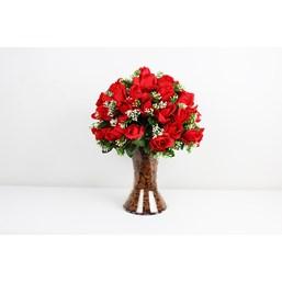 Arranjo Rosas Vermelhas Da Paixão Permanente (Artificial)