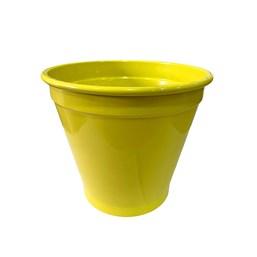 Cachepô de Alumínio Amarelo - 16cm x 19cm