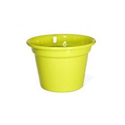 Cachepô de Alumínio Amarelo - 8,5cm x 12cm
