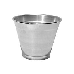 Cachepô de Alumínio Polido - 16cm x 19cm