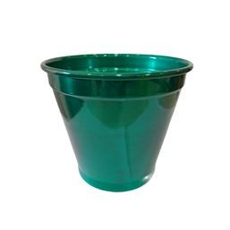 Cachepô de Alumínio Verde - 16cm x 19cm