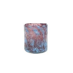 Cachepô de Vidro A Liz Cil Azul Tanzanita - 11cm x 13cm
