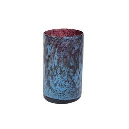 Cachepô de Vidro A Liz Cil Azul Tanzanita - 12cm x 20cm