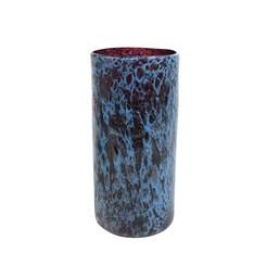 Cachepô de Vidro A Liz Cil Azul Tanzanita - 14cm x 31cm