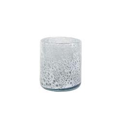 Cachepô de Vidro A Liz Cil Branco Gelo - 11cm x 13cm