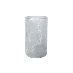 Cachepô de Vidro A Liz Cil Branco Gelo - 12cm x 20cm