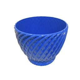 Cachepô Trançado Azul - 11cm x 13cm