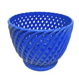 Cachepô Trançado Azul - 13cm x 15cm
