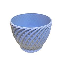 Cachepô Trançado Azul Claro - 11cm x 13cm