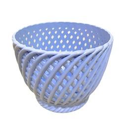 Cachepô Trançado Azul Claro - 13cm x 15cm
