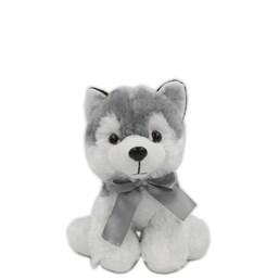 Cachorrinho Husky Cinza Sentado (20 cm)