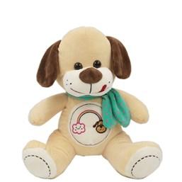 Cachorro De Pelúcia Bordados Com Cachecol (32 cm)