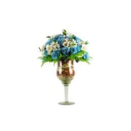 Flores De Astromélia e Rosas Lindo Arranjo