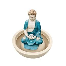 Fonte Buda Tibetano Azul - 51cm x 59cm