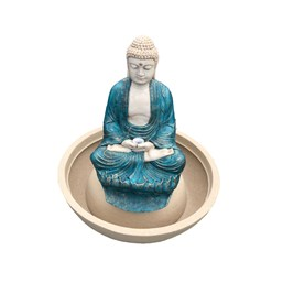 Fonte Buda Tibetano Azul - 70cm x 79cm