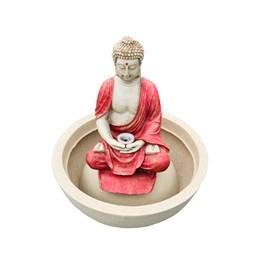 Fonte Buda Tibetano Vermelha - 51cm x 59cm