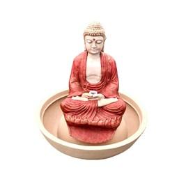 Fonte Buda Tibetano Vermelha - 70cm x 79cm