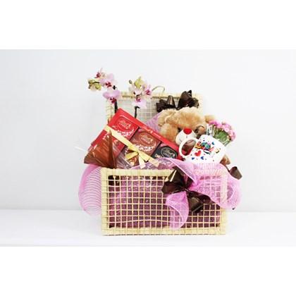 Kit Carinhoso Com Mini Orquídea e Kalanchoe