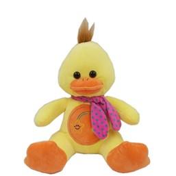 Pato De Pelúcia Bordado Com Cachecol (32 cm)
