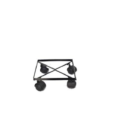 Rodízio De Ferro Quadrado Preto 25CM