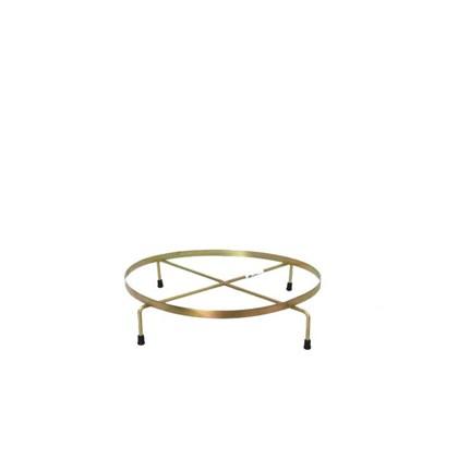 Suporte De Ferro Rasteiro Dourado 30cm