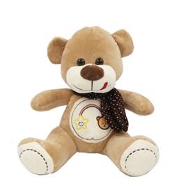 Urso de Pelúcia Bordado Com Cachecol (32 cm)