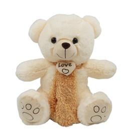 Urso Fofo Com Um Lindo Cachecol Branco(40 cm)