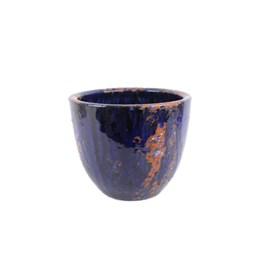 Vaso Americano Baixo 02 Azul Manchado 20cm x 23cm