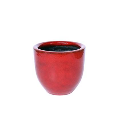 Vaso Americano Baixo Vermelho 01 16cm x 18cm