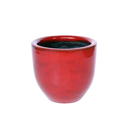 Vaso Americano Baixo Vermelho 02 20cm x 23cm