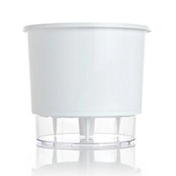 Vaso Autoirrigável Grande - Branco - 19cm x 21cm