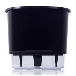 Vaso Autoirrigável Grande - Preto - 19cm x 21cm