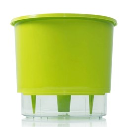 Vaso Autoirrigável Grande - Verde Claro - 19cm x 21cm