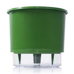 Vaso Autoirrigável Grande - Verde Escuro - 19cm x 21cm