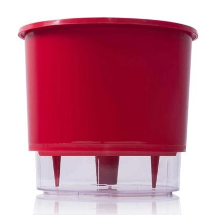Vaso Autoirrigável Grande - Vermelho - 19cm x 21cm