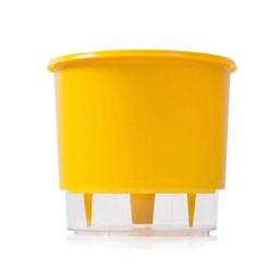 Vaso Autoirrigável Médio - Amarelo - 15cm x 16cm
