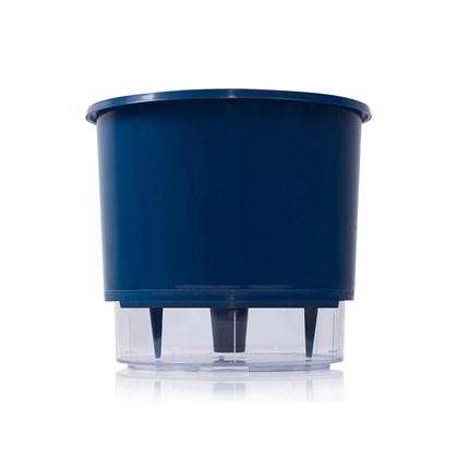 Vaso Autoirrigável Médio - Azul Escuro - 15cm x 16cm