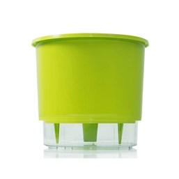 Vaso Autoirrigável Médio - Verde Claro - 15cm x 16cm
