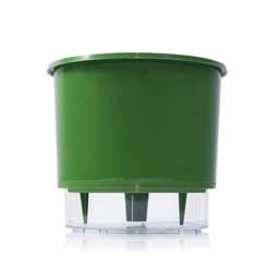 Vaso Autoirrigável Médio - Verde Escuro - 15cm x 16cm