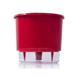 Vaso Autoirrigável Médio - Vermelho - 15cm x 16cm