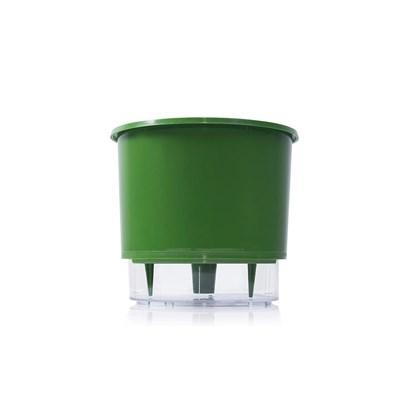 Vaso Autoirrigável Pequeno - Verde Escuro - 11cm x 12cm