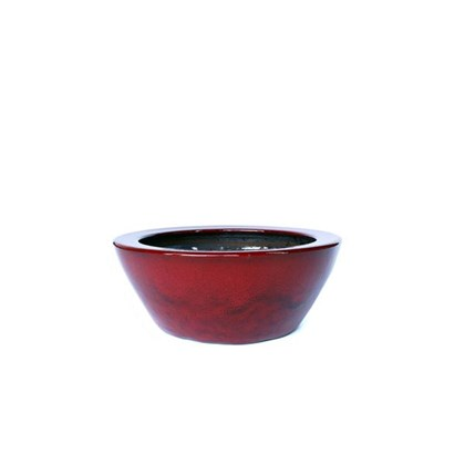 Vaso Bacia 01 Vermelha 12cm x 30cm