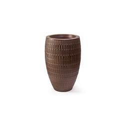 Vaso Bambu Oval Carvalho