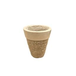 Vaso Cone Mini Concreto - 19cm x 23cm