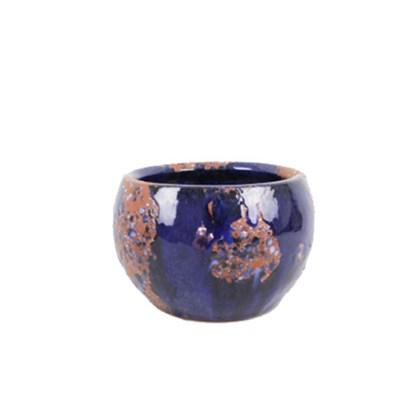 Vaso Coquinho 01 Azul Manchado 10cm x 14cm