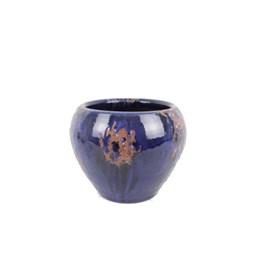 Vaso Coquinho 02 Azul Manchado 15cm x 17cm