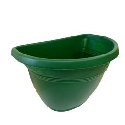 Vaso de Parede Plástico Verde 23cm