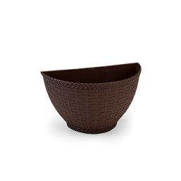 Vaso de Parede Rattan 0,5L - Coffee