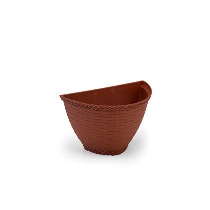Vaso de Parede Rattan 0,5L - Telha