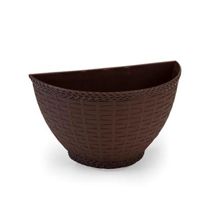 Vaso de Parede Rattan 2,5L - Coffee